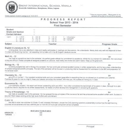 Ib policies brent international school manila for International trade contract template